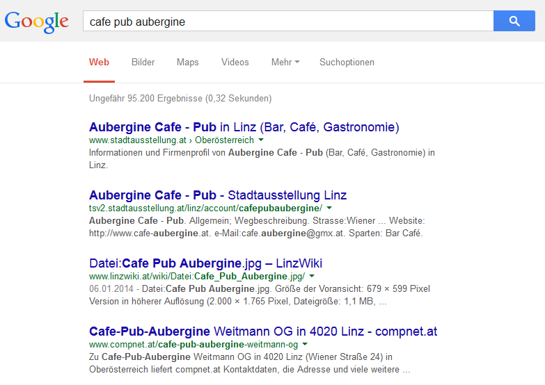 cafe aubergine local seo