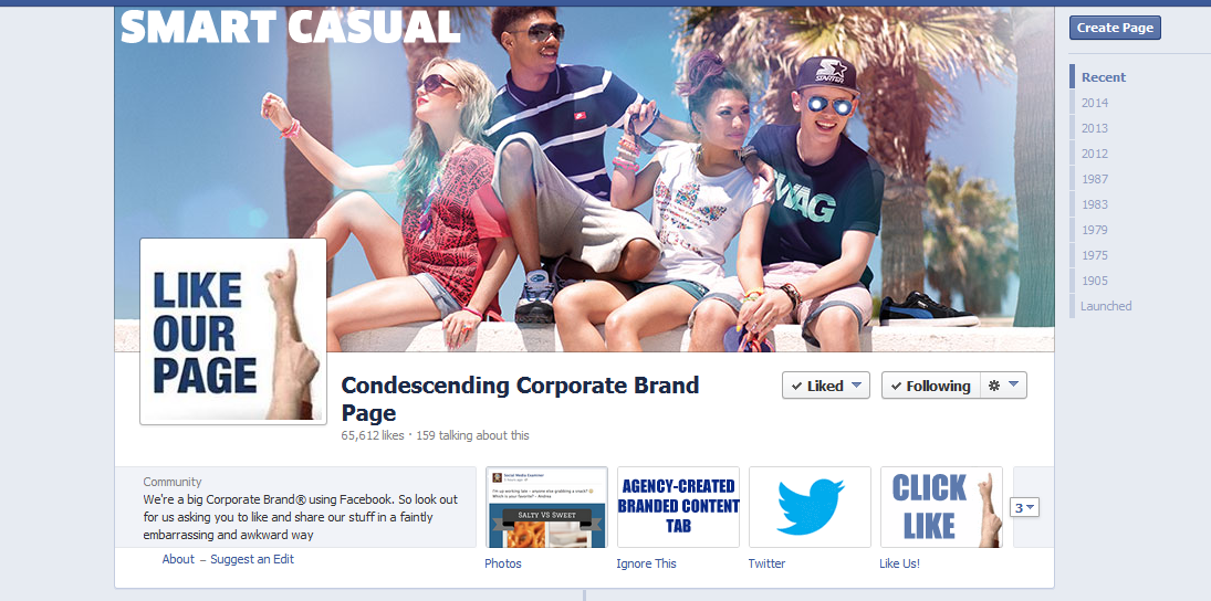 corporate brand page