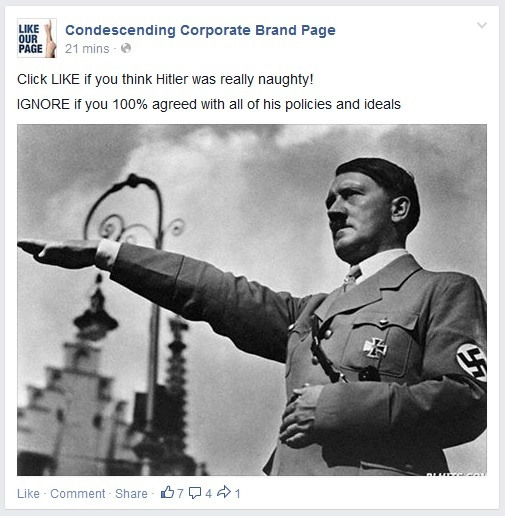 hitler condescending corporate